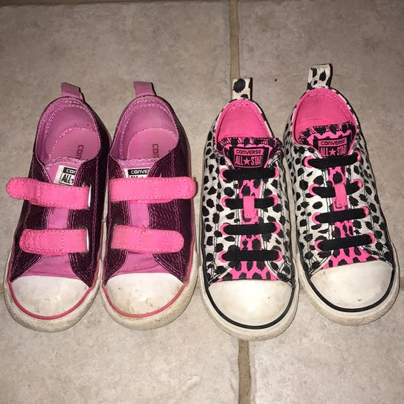 4e82724282f6 Converse Other - CONVERSE All Star Shoes 2 Pairs Kids Youth 10